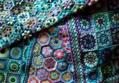 Lovely crocheted coverlets by andamento, via Flickr