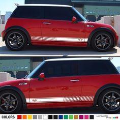 Sticker Decal Stripe Kit for Mini Cooper R50 R56 F55 Door Handle Trim Emblem  #ultimateprocy1