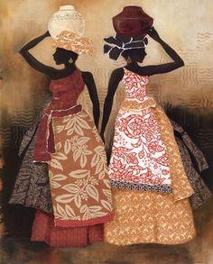 Village Women II Art Print at It's A Black Thang