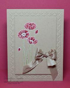 hhh  Pleasant Poppies + white emboss + SU Markers + Tulip folder _ Jennifer Timko click image