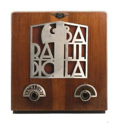 Magnadyne Radio Balilla 1937-39 Italy with <3 from JDzigner www.jdzigner.com