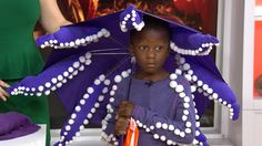 Stephanie Sisco of Real Simple shares easy DIY tips for Halloween costumes your kids will love. From transforming a red yoga mat into a British phone booth to using a purple umbrella for an octopus costume, her ideas are both original and creative.