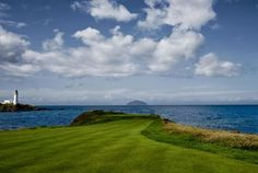 Spectacular views from the 11th tee of the Ailsa