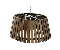 Lámpara de techo en madera reciclada y hierro Auckland - Ø49 cm