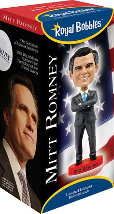 He may have lost the race, but that doesn't mean Mitt Romney can't have a #bobblehead available at Bobbleheads.com!