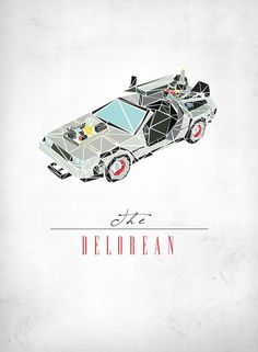 Cubist DeLorean from Back To The Future