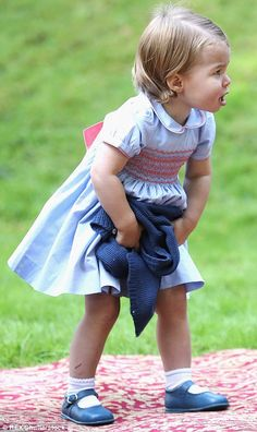 September 29, 2016: Princess Charlotte today at the age of 16 months.My, how the little princess has grown!