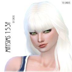 Maysims 153F hair retexture at Dachs Sims via Sims 4 Updates