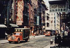 Mott Street in Chinatown, New York City, c. 1950