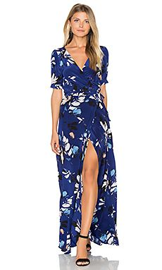 Yumi Kim J'Adore Maxi Dress in Sienna Fiesta Navy