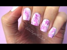 She Adds A Drop Of Pink Nail Polish On Tinfoil And Creates Nail Art That's Out Of This World!