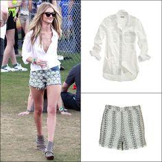Rosie Huntington-Whiteley's Embellished Shorts