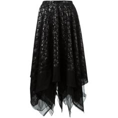 Marc Le Bihan sequined skirt (12,840 MXN) ❤ liked on Polyvore featuring skirts, black, marc le bihan and sequin skirt