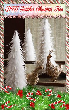 DIY Feather Christmas Tree. Follow this simple how-to for a stylish feather Christmas tree...