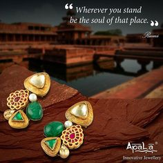 Beautify your look with the unique #earrings inspired by the most luxurious & fascinating #Mughal period from @apalabysumitofficial.  #Jewellery #design #art #heritage #architecture #Mughal #history #repost #doubletap #bespoke #silverjewellery #customisedjewellery #likes #repost #MughalEarrings #glamourearrings #shop #buy #follow #comment #tags #Ethnic #Stones #Innovative