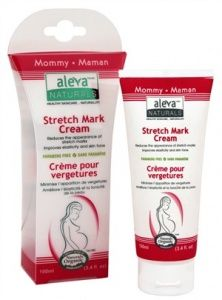 Aleva Naturals Stretch Mark Cream - Reduces the appearance of stretch marks and improves elasticity and skin tone.    Aleva Naturals Stretch Mark Cream is specially formulated with Organic Shea Butter, Olive Oil, Natural Soy Protein, Wheat Protein and Pumpkin Seeds extracts that helps to improve elasticity and skin tone. This unique blend is specially formulated for all sensitive areas including breasts, hips, abdomen and upper thighs.