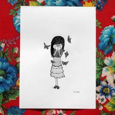 girl… butterflies