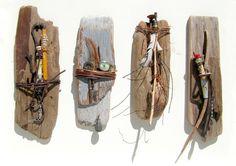 """Four Fetishes (20""""w x 16""""h). Courtesy: Cynthia Minden, Artist, Sculptor. Denman Island, BC (Canada)."""