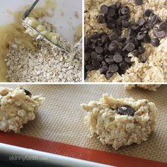 Chewy Chocolate Chip Oatmeal Breakfast Cookie | Skinnytaste (banana, oats, choc chips)