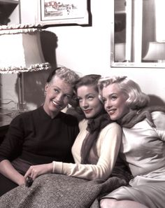 Marilyn, Betty and Lauren photographed during the production of How To Marry A Millionaire by Earl Theisen in 1953.
