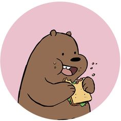 We Bare Bears Hungry Grizz, Electronics, Mobile & Tablet Accessories on Carousell Flower Phone Wallpaper, Bear Wallpaper, Wallpaper Iphone Cute, Ice Bear We Bare Bears, We Bear, Cute Profile Pictures, Cartoon Profile Pictures, We Bare Bears Wallpapers, Punch Man
