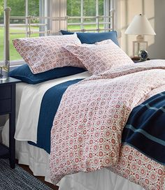 280-Thread-Count Pima Cotton Percale Comforter Cover, Print | Free Shipping at L.L.Bean