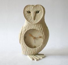 Next image >> Fairytale House, Wooden Clock, Home Accessories, Fairy Tales, Arts And Crafts, Carving, Projects, Barn, Animal