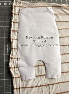 Newborn Romper Tutorial - upcycle from an old sweater and use as a photography prop