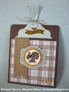 Fun Stampin' with Margaret!: Harvest of Gratitude Pocket Card