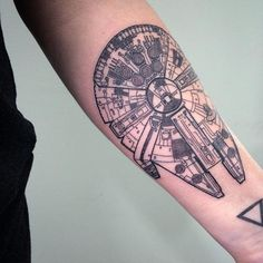 "The collection Star Wars is a milestone within the historical past of up to date cinema and the set off of the period of ""blockbusters"" - whose time period emerged within the to qualify Dream Tattoos, Future Tattoos, Love Tattoos, Tatoos, Tattoos Skull, Star Tattoos, Body Art Tattoos, Falcon Tattoo, Tattoo Trend"