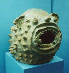 Teotihuacan Ceramic mask of a (Jaguar?).