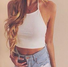#croptop #jeanshorts #jorts #shortshorts #summershorts #diyshorts #summertan #highwaisted #highwaistedshorts #longhair