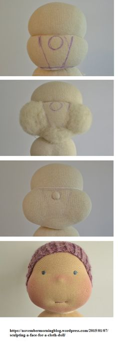 Waldorf doll head construction