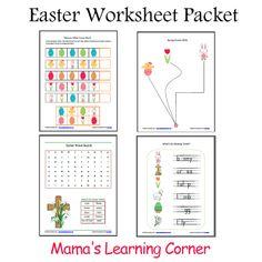 Easter worksheet packet #homeschool #preschool #kindergarten