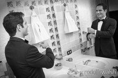 Casa Santo Domingo Antigua Guatemala weddings, groom getting ready http://www.photowalsh.com #casascolonialesguatemala