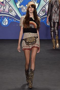Crochet vest and hat (just ignore the fanny pack) at Anna Sui NYFW S15 RTW
