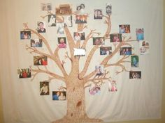 family tree picture display: I like personalizing things for any party affair that I have. I have a family reunion coming up and I have been put in charge over it. Family Reunion Themes, Family Theme, Family Reunions, Family Events, Displaying Family Pictures, Family Tree With Pictures, Vinyl Table Covers, Tree Quilt, We Are Family