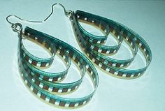 35MM Film Earrings Upcycled Jewelry Eco Friendly Jewelry Film Reel Earrings Repurposed Film Recycled Film Dangle Earrings Upcycled Jewelry