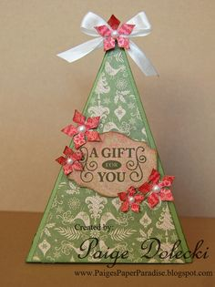 Paige Dolecki - Stampologist  Created with CTMH Cricut Artiste cartridge and Pear and Partridge papers.