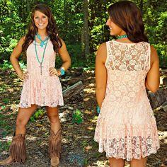 Sfc. Lace peach dress