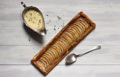 Spanish Basque Apple Tart with Thyme Custard