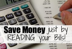 I saved $35 by reading just ONE of my bills! Taking just a couple extra minutes to examine your bills really can save you money!