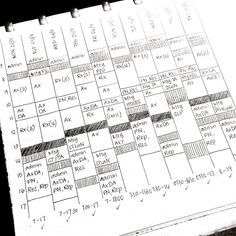 - reposting this pic from March of how I track my work hours and occasions of service. The abbreviations are work-specific. The hatched sections are travel time and the blocked out sections are break times. I'll write my start and end times at the bottom of each column, then when I write up my time sheet in the fortnight I tick it below so I know that I've written it down already. How do you track your work tasks and schedule? #bulletjournal #bulletjournaljunkies #handwriting #writing…