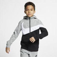 Best Tracksuits, Nike Clothes Mens, Nike Outfits, Full Zip Hoodie, Heather Black, Grey Hoodie, Nike Sportswear, Kids Wear, Hooded Jacket