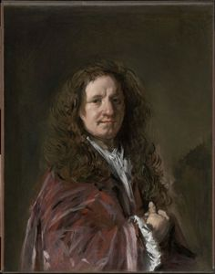 """Frans Hals, Portrait of a Man, c. 1665  From the Museum of Fine Arts, Boston:  Frans Hals, foremost painter in the Dutch city of Haarlem, was one of the most original and penetrating portraitists of the seventeenth century. This work, painted when the artist was in his eighties, is striking for the freedom of its vigorous brushwork. At the time, an admirer described Hals's late portraits as """"very rough and bold, nimbly touched and well-ordered."""