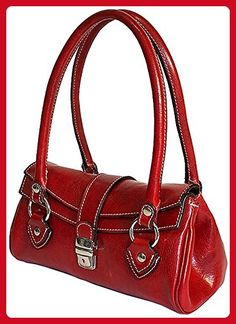 Floto Womens  Personalized Initials Embossing  Corsica Top Handle Shoulder  Handbag in Tuscan Red - 0b6ee7c2d6
