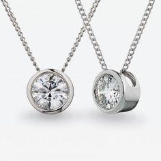 0.40 Carat Contemporary White Gold Diamond Pendant