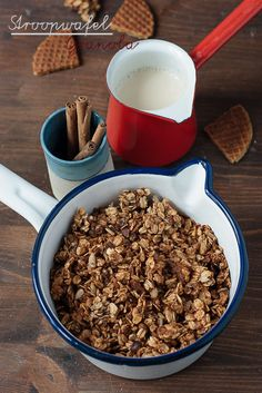 Stroopwafel granola. What??? Btw, you can get Stroopwafel at YDFM. #recipe #vegan