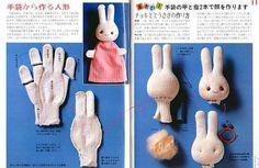 Evde Eldivenden Tavşan Kukla Yapımı   Resimli Anlatım