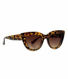 Vintage Style Tortoise Sepia Tinted Cat Eye Sunglasses